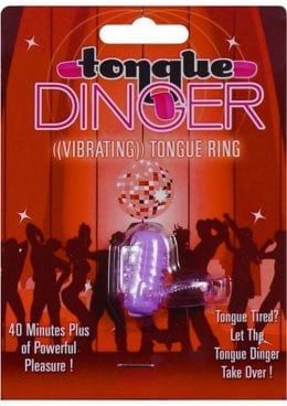 Tongue Dinger Vibrating Tongue Ring Purple