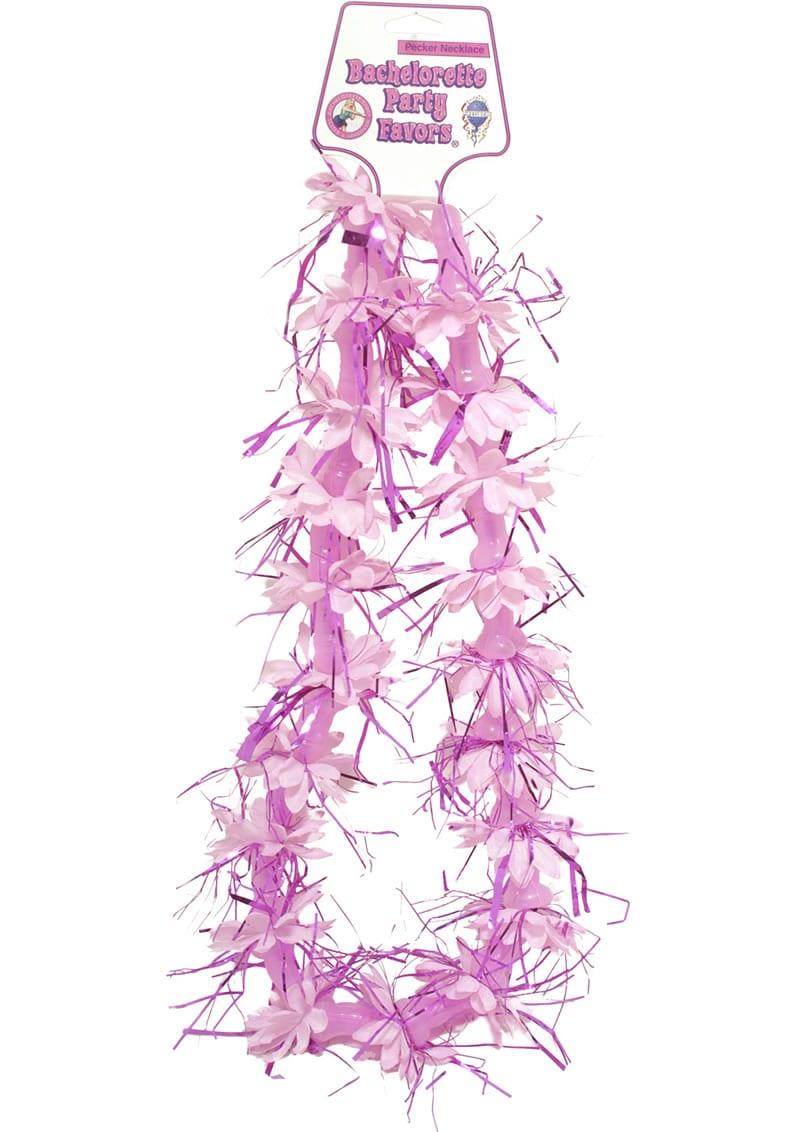 Bachelorette Party Favors Pecker Necklace Pink