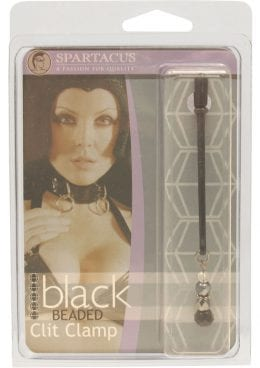 Black Beaded Clit Clamp With Tweezer Tip Black