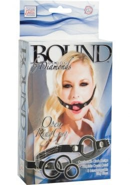 Bound By Diamonds Open Ring Gag Black