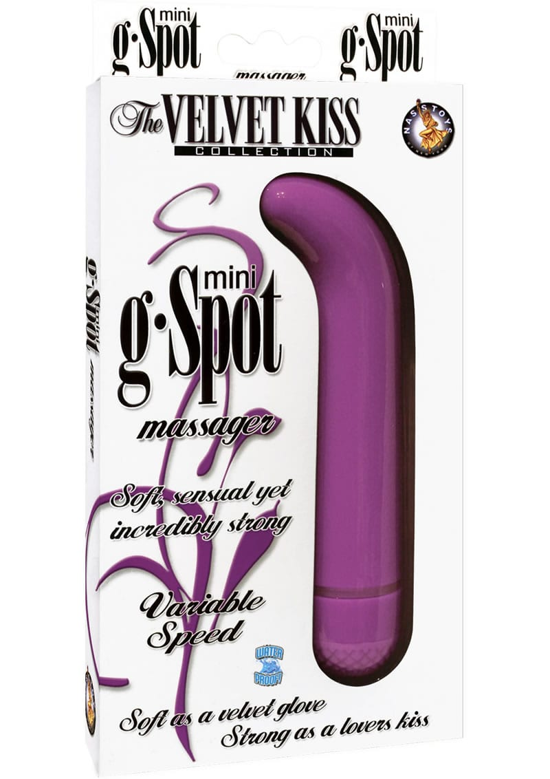 The Velvet Kiss Collection Mini G Spot Massager Multispeed Waterproof Purple