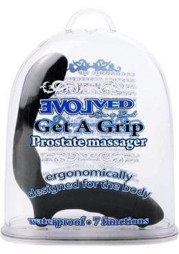 Get A Grip Prostate Massager Waterproof 5.5 Inch Black