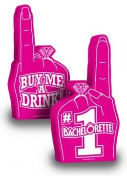 Number 1 Bachelorette Foam Finger Pink