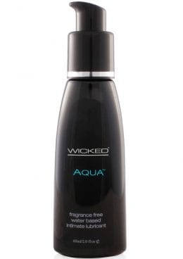 Wicked Aqua Water Based Lubricant Unscented 2 Ounce