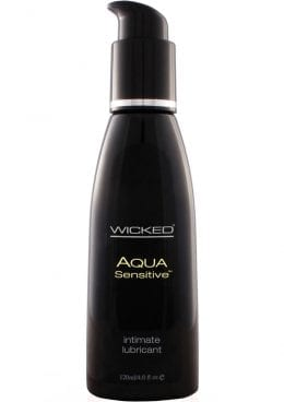 Wicked Aqua Sensitive Water Based Lubricant Unscented 4 Ounce