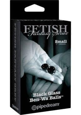 Fetish Fantasy Series Limited Edition Glass Ben-Wa Balls Black Small 1 Inch Diameter