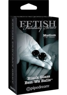 Fetish Fantasy Series Limited Edition Glass Ben-Wa Ball Black Medium 1.25 Inch Diameter