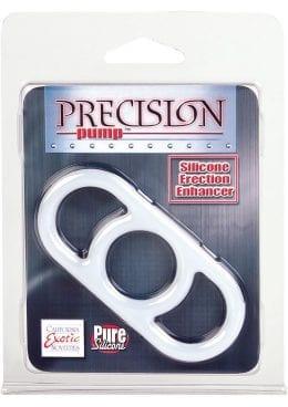 Precision Pump Erection Enhancer Silicone Cock Ring Clear