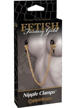 Fetish Fantasy Gold Nipple Clamps Gold