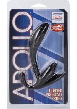 Apollo Curved Prostate Probe Black 4.5 Inch