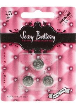Sexy Battery Xtra Endurance Alkaline LR44 A76/ 1.5V 3 Each Per Pack
