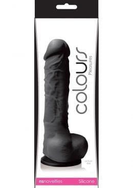 Colours Pleasures Silicone Dong Black 5 Inch