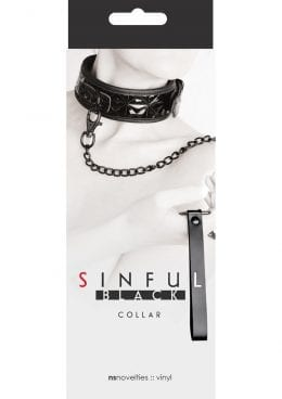 Sinful Black Adjustable Collar