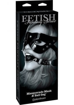 Fetish Fantasy Series Limited Edition Masquerade Mask and Ball Gag Set Black