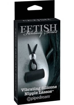 Fetish Fantasy Series Limited Edition Vibrating Silicone Nipple Lassos Black