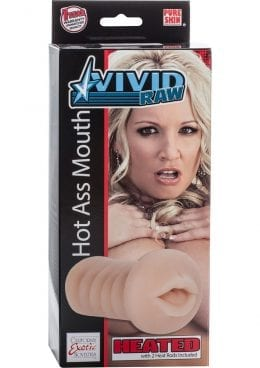 Vivid Raw Hot Ass Mouth Heated Stroker Ivory 6 Inch