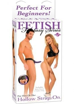 Fetish Fantasy Hollow Strap On 6.5 Inch Purple