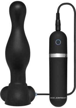 Platinum Premium Silicone The Delight Vibrating Anal Plug Waterproof Black 6.1 Inch
