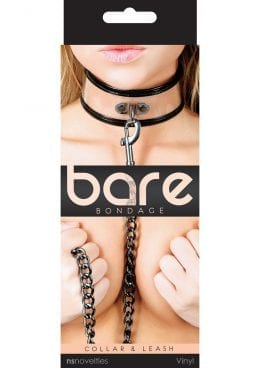 Bare Bondage Vinyl Clear Collar and Leash 18 Inch