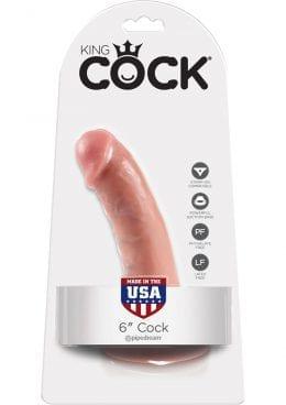 King Cock Realistic Dildo Waterproof Flesh 6 Inch