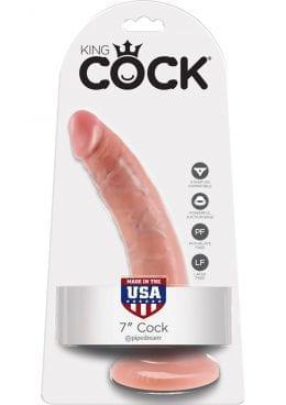 King Cock Realistic Dildo Waterproof Flesh 7 Inch