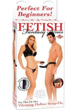 Fetish Fantasy Vibrating Hollow Strap On 6.5 Inch Black