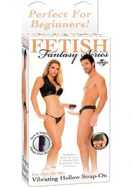Fetish Fantasy Vibrating Hollow Strap On 6.5 Inch Flesh