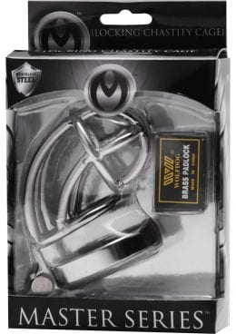 Master Series Captus locking Chastity Cage 4 Inches