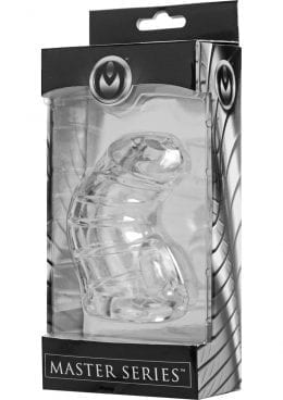 Master Series Detained Soft Chasity Cage Clear 4 Inch