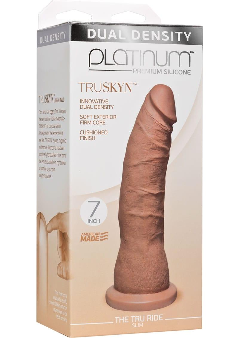 Platinum Truskyn Tru Ride Silicone Slim Brown 7 Inch