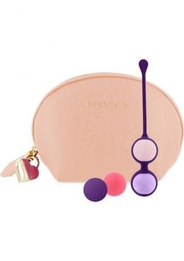 Rianne S Pussy Play Balls Silicone Kegal Balls With Beige Bag