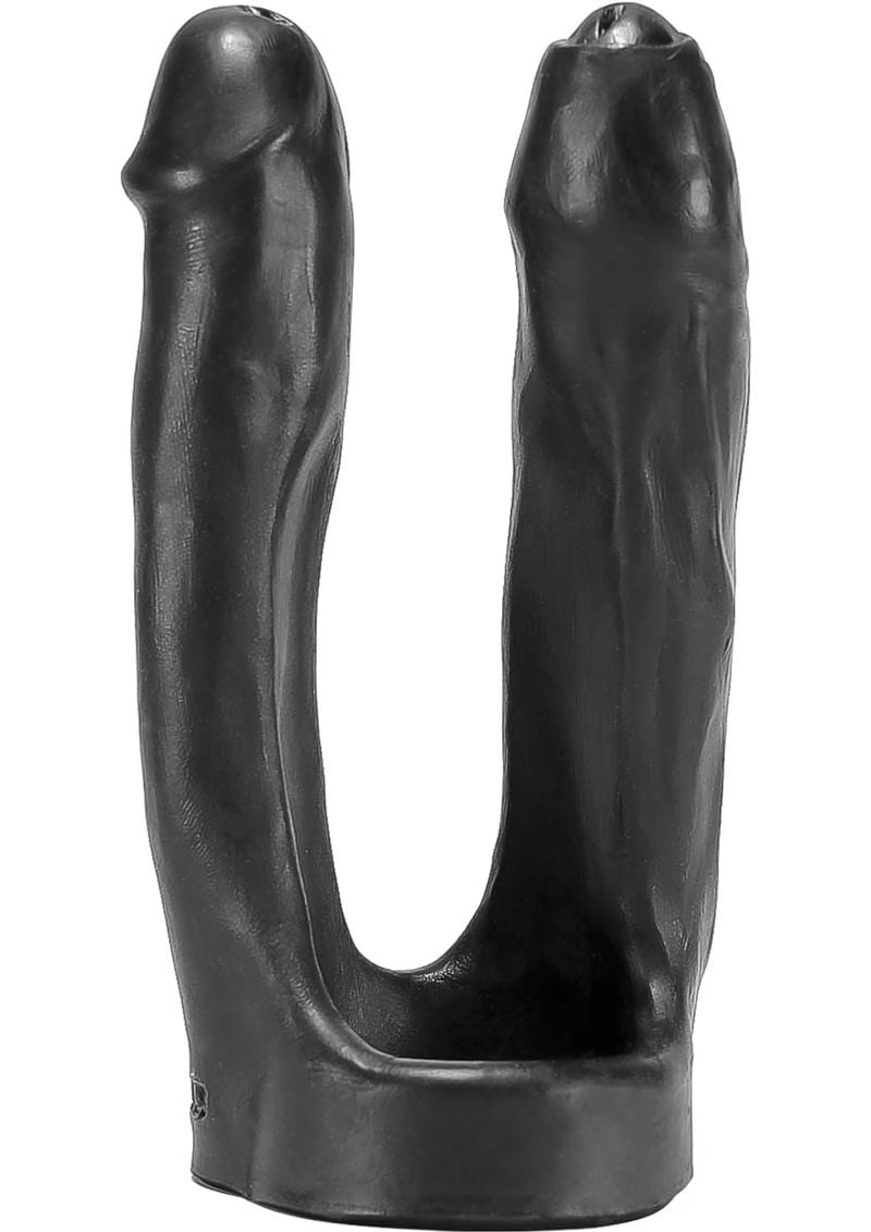 3-Way Triple Penetrator Silicone Strapon Dong Black 8 Inches