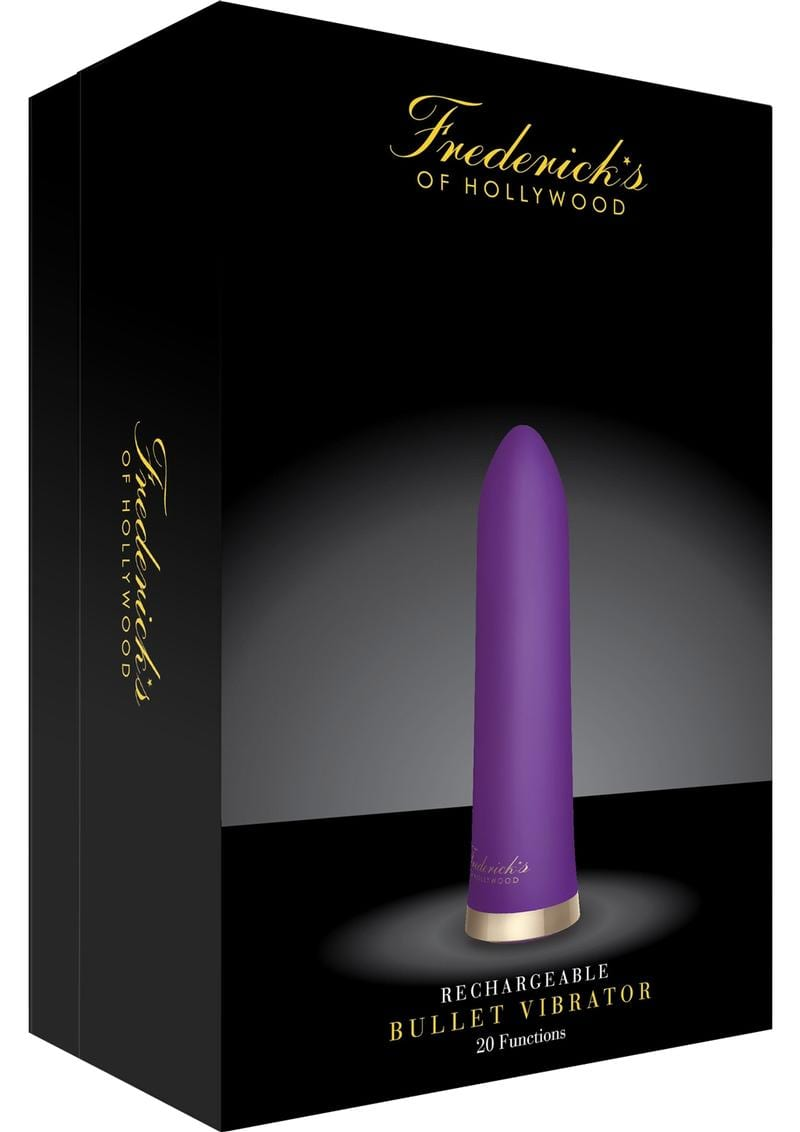 Frederick`s Of Hollywood USB Rechargeable Silicone Bullet Vibrator Set Waterproof Purple