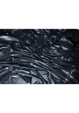 Lux Fetish Vinyl Bed Sheet Black California King Size
