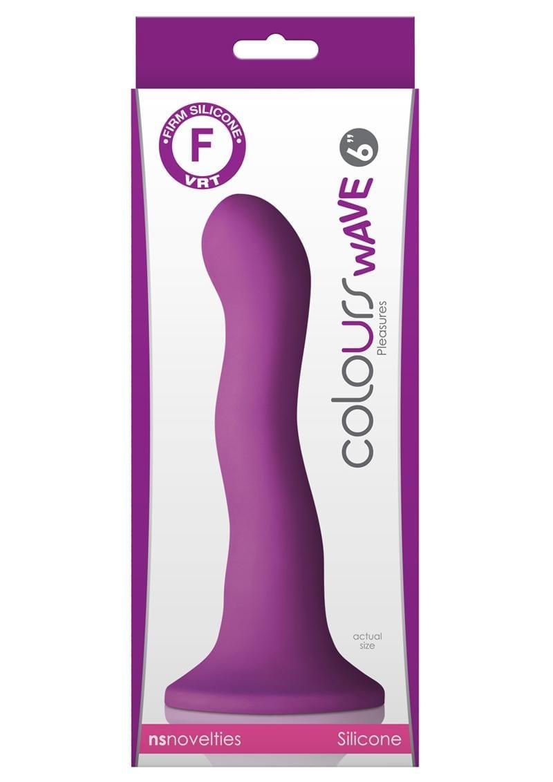 Colours Wave Silicone Dildo Purple 6 Inch