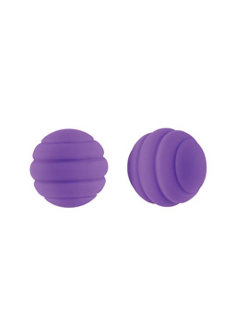 Lush Ivy Silicone Coated Steel Balls Waterproof Purple 1 Inch