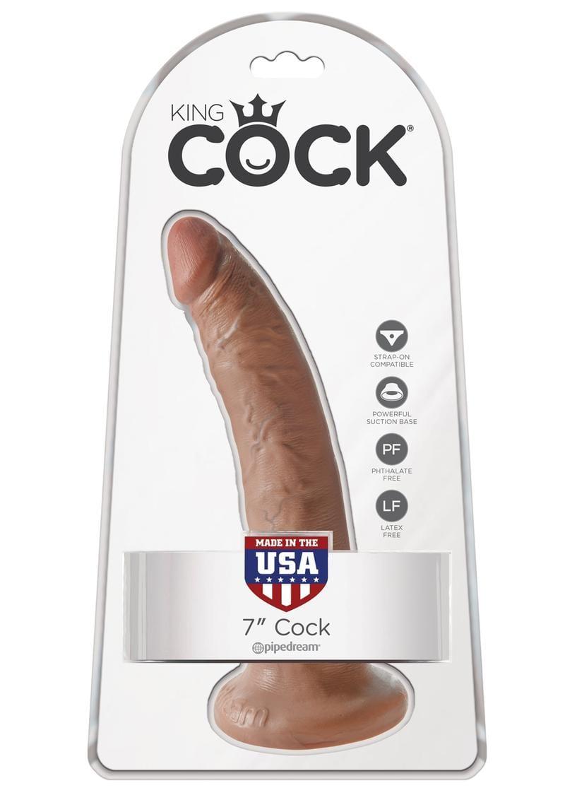 King Cock Realistic Dildo Tan 7 Inch