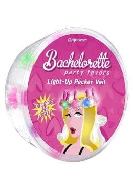 Bachelorette Party Favors Light-Up Pecker Veil Multi-Color Lights