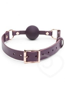 Fifty Shades Freed Cherished Collection Leather Ball Gag Silicone Purple