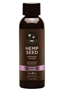Hemp Seed Massage Lotion 100% Vegan Lavender 2 Ounce