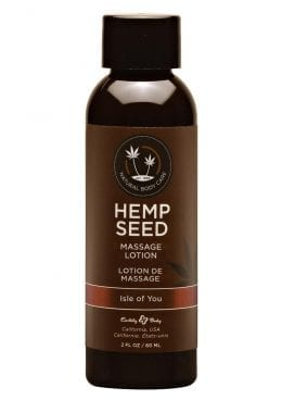 Hemp Seed Massage Lotion 100% Vegan Isle Of You 2 Ounce
