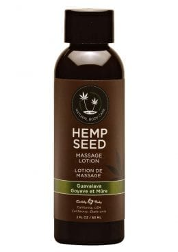 Hemp Seed Massage Lotion 100% Vegan Guavalava 2 Ounce