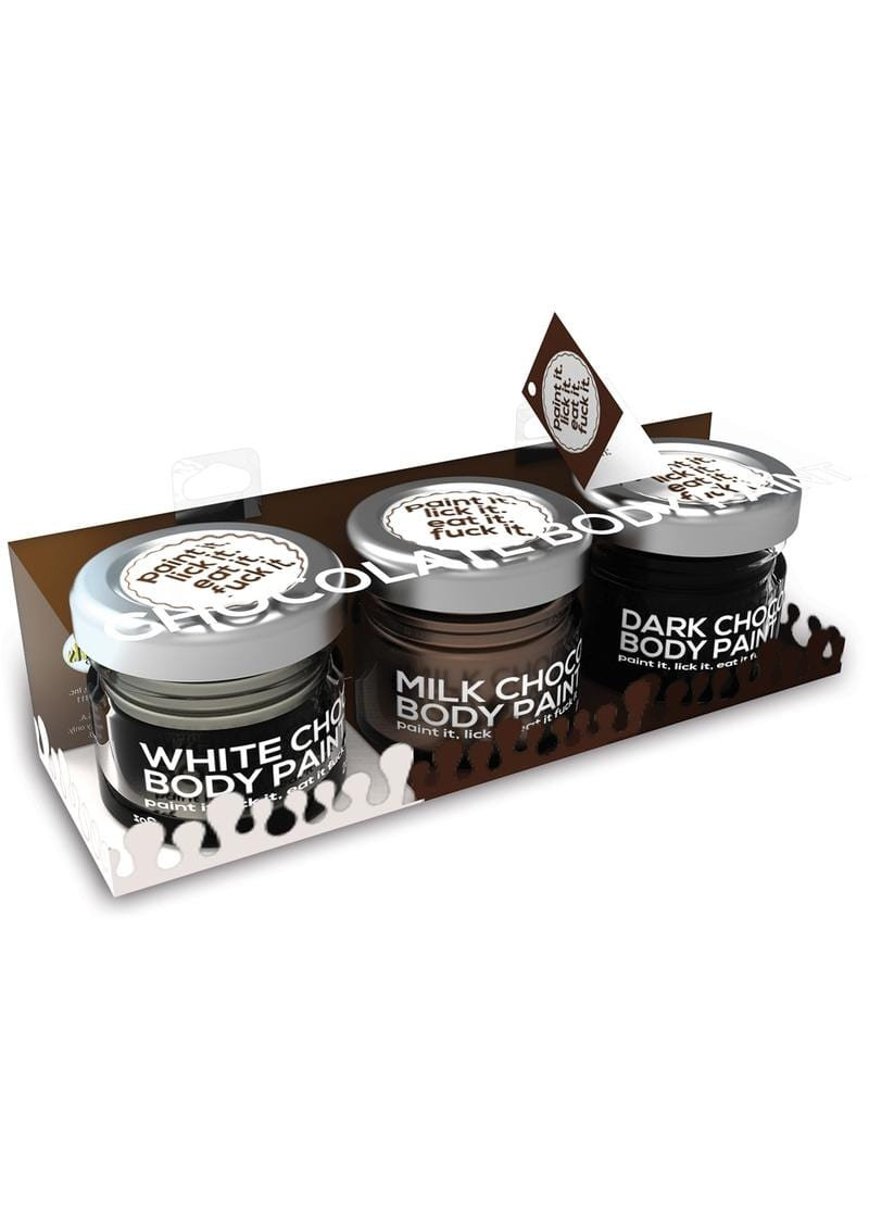 Chocolate Lovers Edible Body Paint Gift Set Assorted Chocolate Flavors