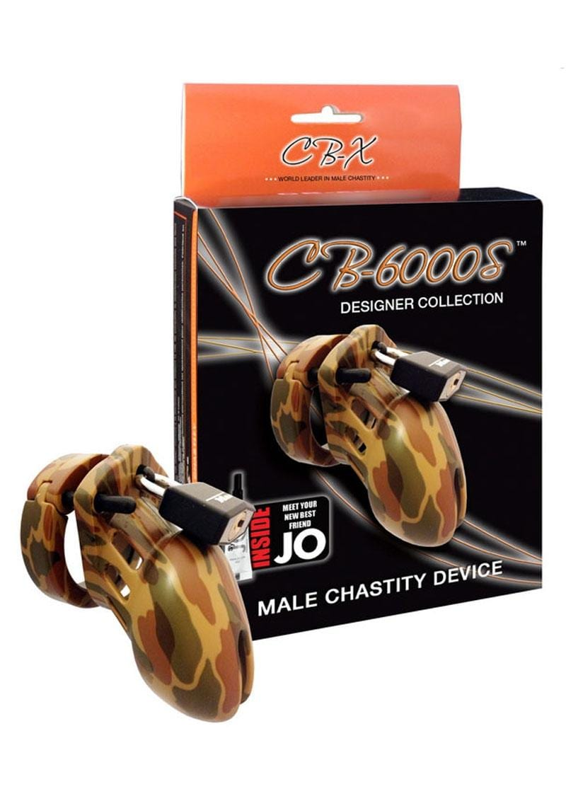CB-6000S Designer Collection Male Chasitity Device With Lock Camoflage Finish