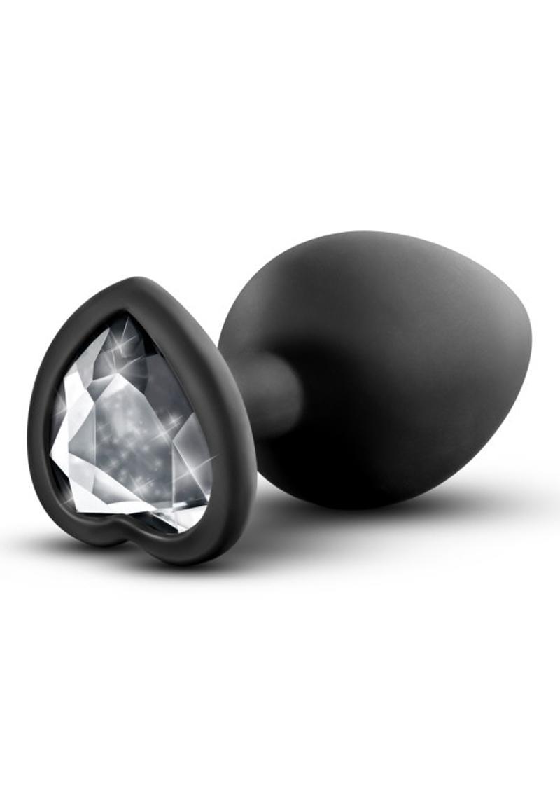 Temptasia Bling Silicone Plug Medium Black 3.25 Inch