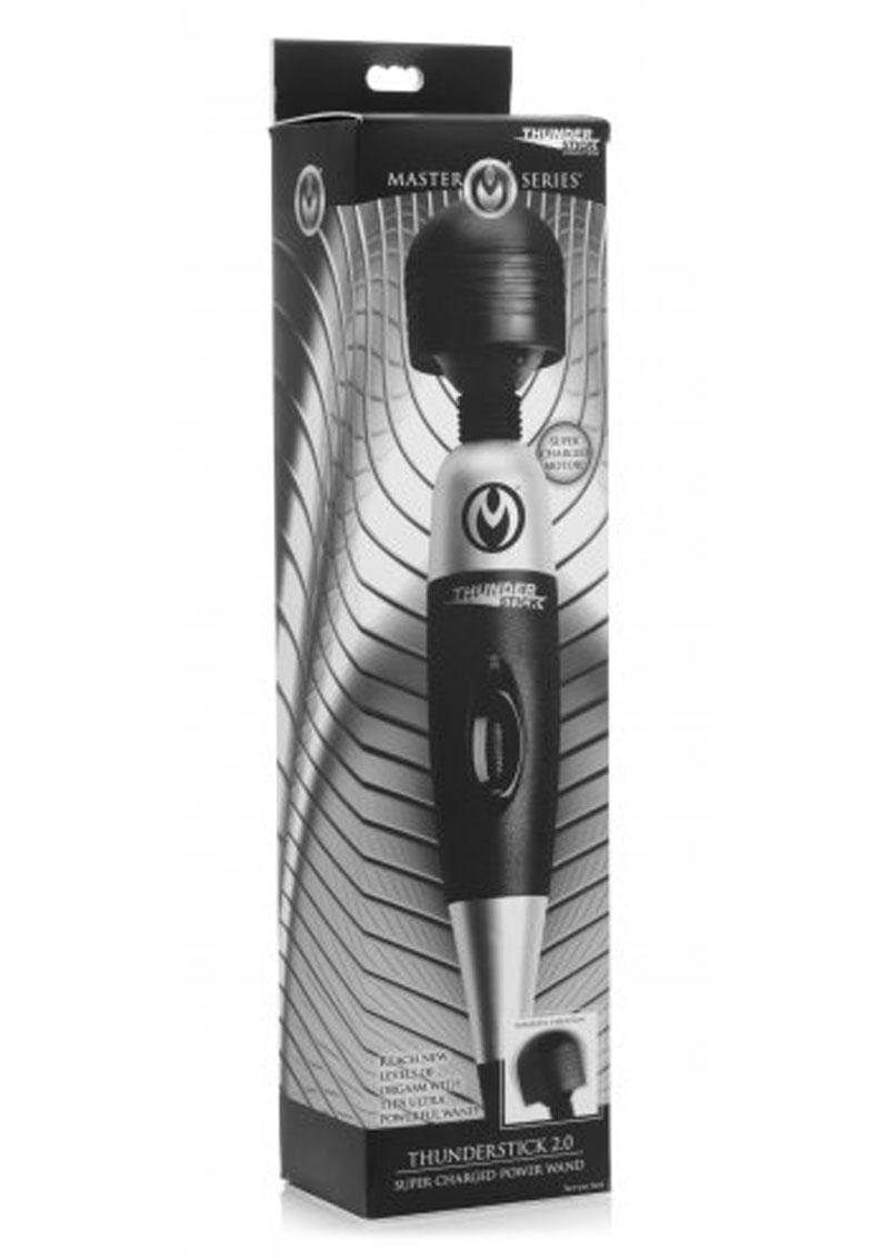 Master Series Thunder Stick 2.0 Super Charged Power Wand Black And Silver