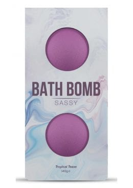 Dona Sassy Fragrance Bath Bomb Tropical Tease 2 Per Box