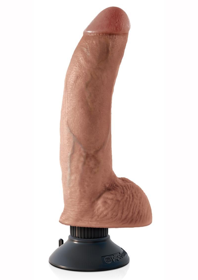 Kc 9 Vibrating Cock W/balls Tan