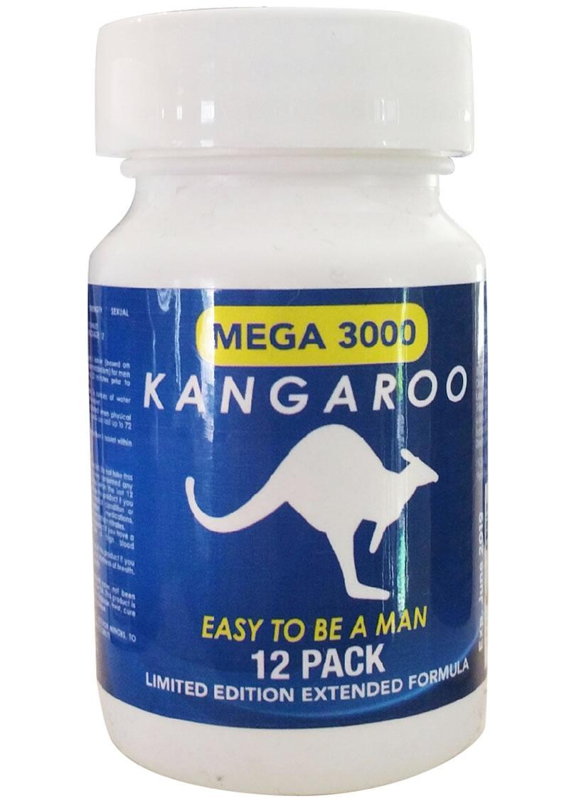 Kangaroo Mega 3000 Enhancement Pill For Him 12 Counts Per Bottle