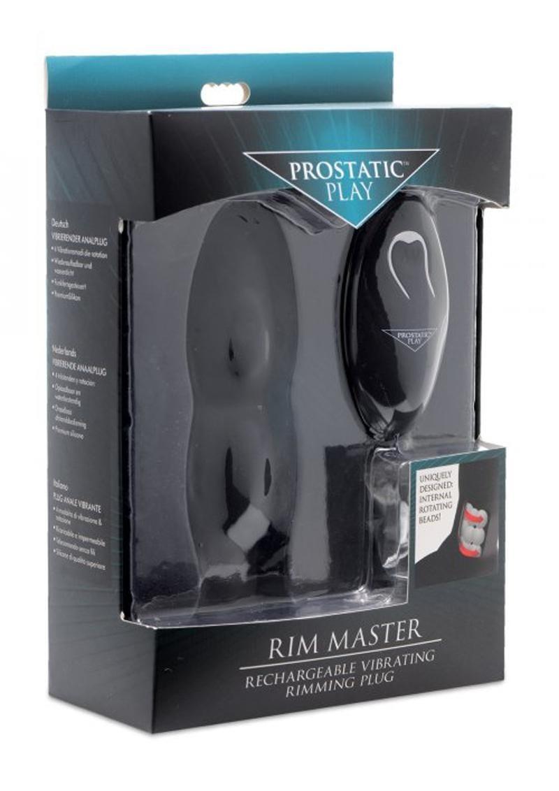 Prostatic Play Rim Master Rechargeable Vibrating Rimming Silicone Plug Black